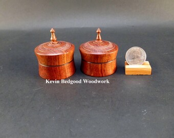 Boxes box Lidded Containers Wedding Ring Chechen Caribbean Rosewood, jewelry stash