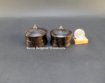 Boxes Lidded Containers Wedding Ring Ebony, jewelry stash
