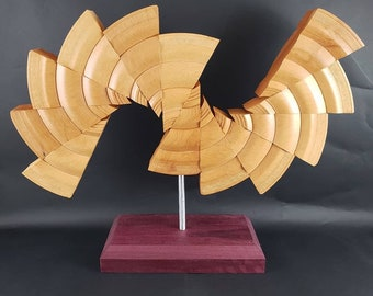 "Sculpture ""River Fan"" display decor great for your home"