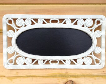 Upcycled White Chalkboard Home Decor Gallery Wall Vintage