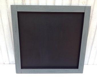 Framed Chalkboard, Large Chalkboard, Rustic chalkboard, wedding sign, menu chalkboard, message board, chalkboard sign, home decor, gray