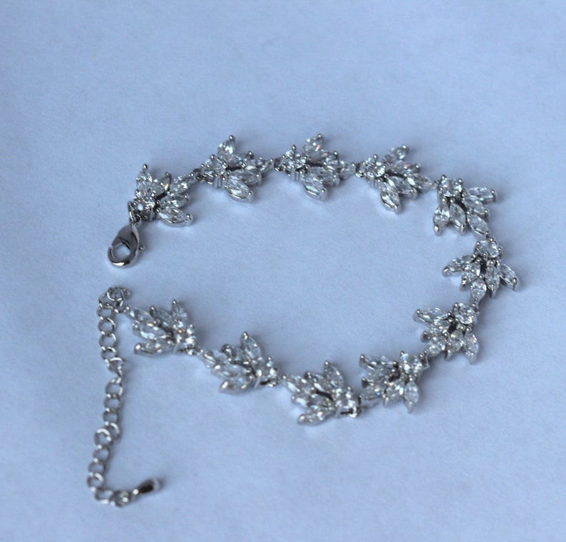 crystal  bridal bracelet wedding jewelry wedding bracelet