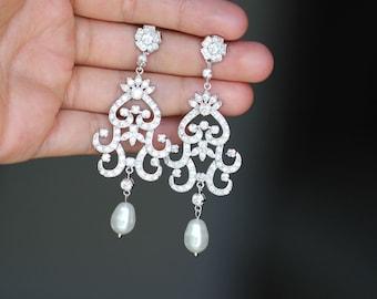 crystal bridal earrings wedding earrings long bridal jewelry