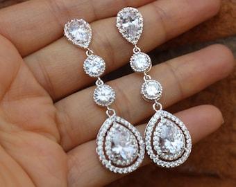 long crystal bridal earring bridal jewelry bridal earrings wedding earrings wedding jewelry