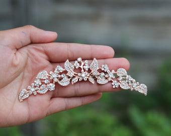 Bridal hair comb rose gold hair comb hair accessories bridal hair clip hair pc rose gold comb