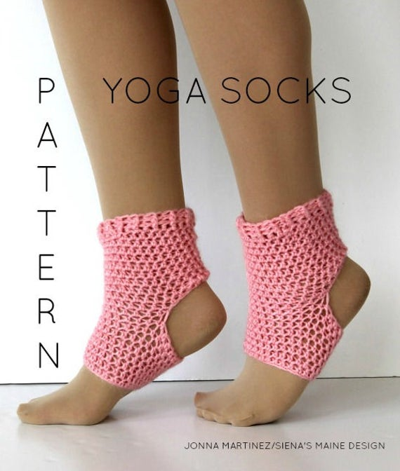 Yoga Sock Pattern Diy Pdf Crochet Yoga Sock Pattern Dance Etsy