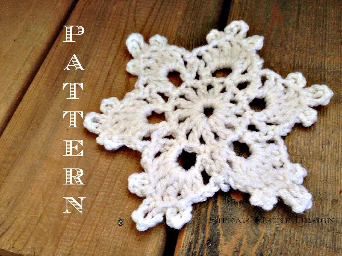 Simple And Easy Crochet Snowflake Pattern Crochet Pattern Etsy