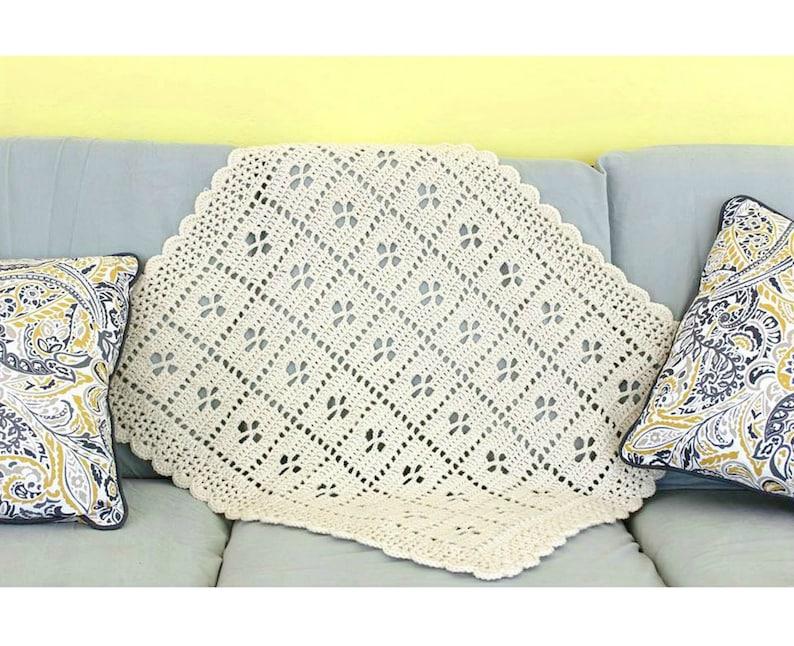 graphic regarding Virus Blanket Pattern Free Printable named Contact The Midwife Afghan, Crochet Blanket Behavior, PDF