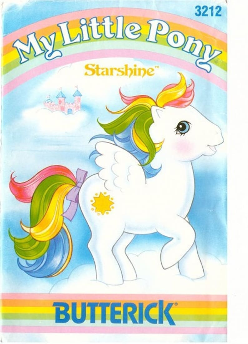 Pdf File My Little Pony Vintage Butterick Starshine Plush Pattern Pdf Scan