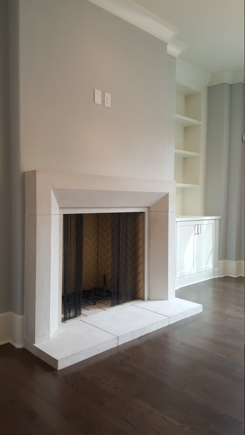 contemporary cast stone fireplace mantel etsy rh etsy com cast stone fireplace mantels atlanta cast stone fireplace mantels america