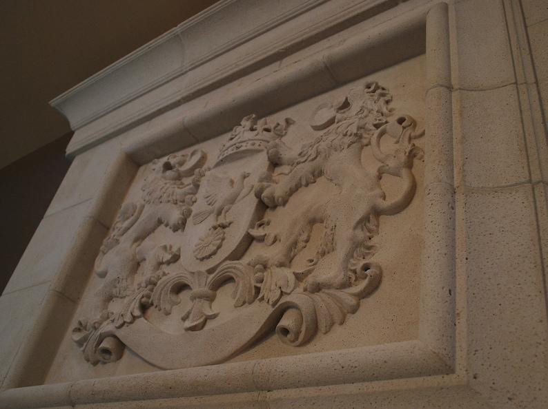 Cast Stone Royal Crest Wall Plaque Decor | Etsy