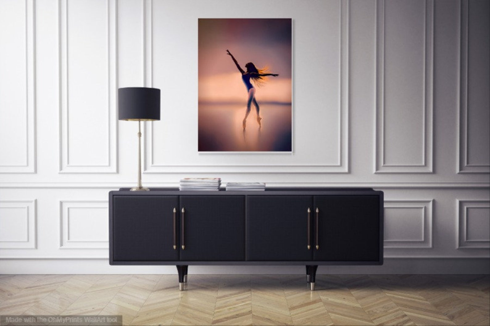ballerina art-girls room art-ballet wall art-dancer-nursery decor-free shipping-ballerina decor-for ballet lovers-ballet fine ar