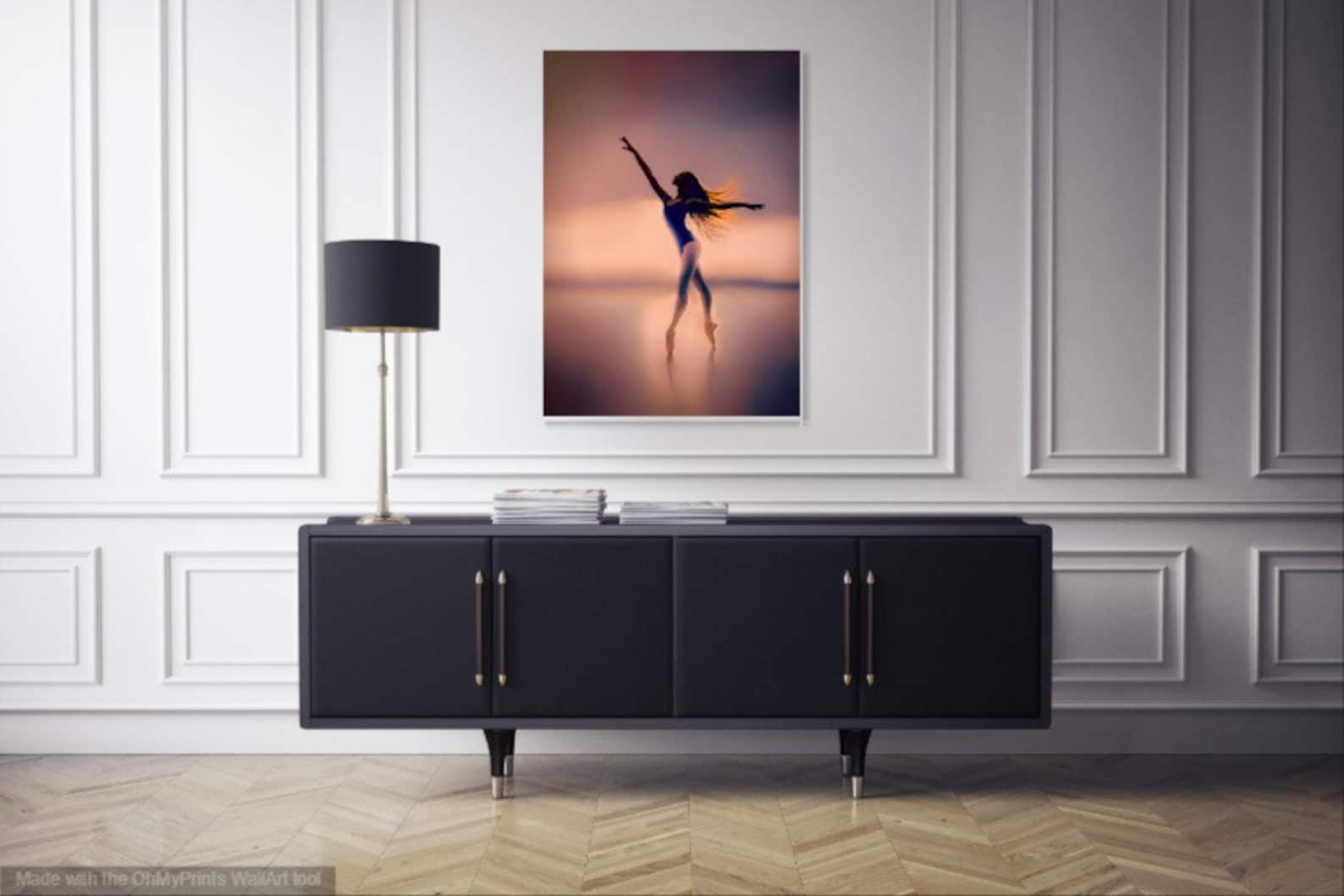ballerina art-girls room art-ballet wall art-dancer-nursery decor-free shipping-ballerina decor-for ballet lovers-ballet fine ar