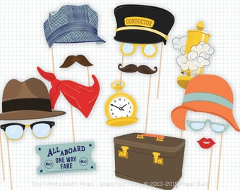 Train Birthday Party, Photo Booth Props, Train Party, Photobooth Props, Decor, Railroad Railway, All Aboard, Train Conductor, Choo Choo Im 2
