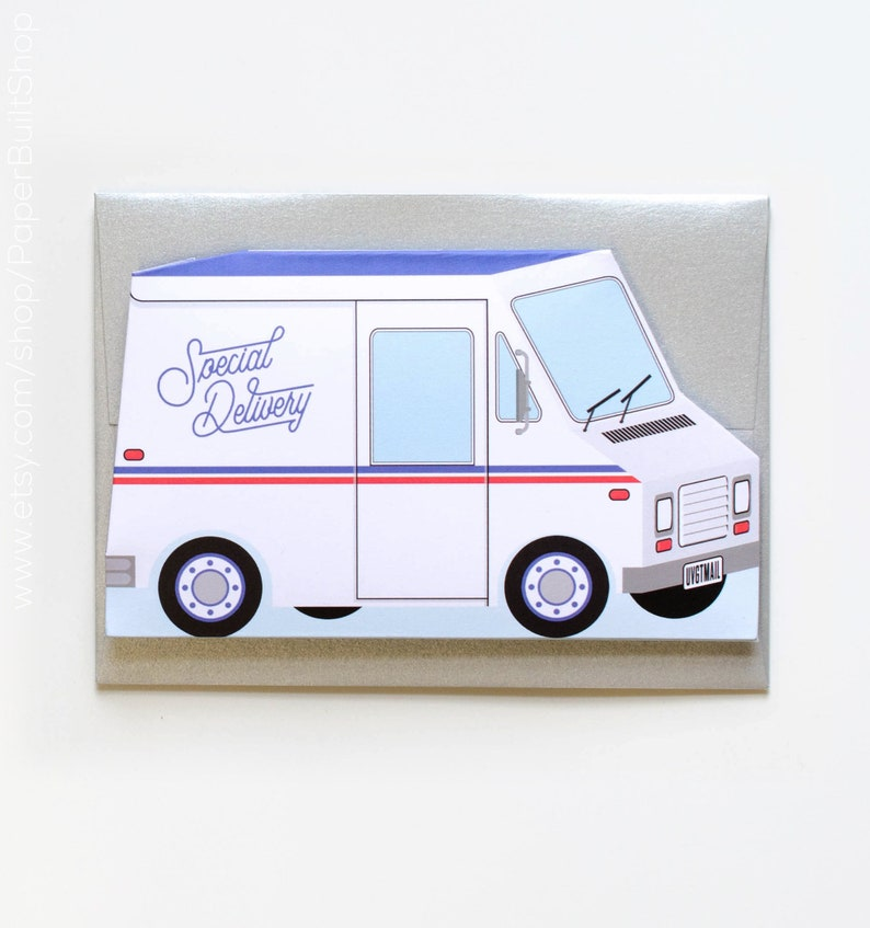 Special Delivery Card Die Cut Greeting Gift
