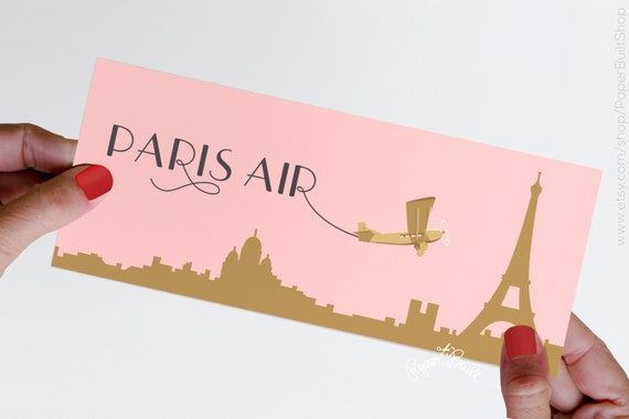 Paris Theme Party Boarding Pass Ticket Jacket Real Airline Ticket