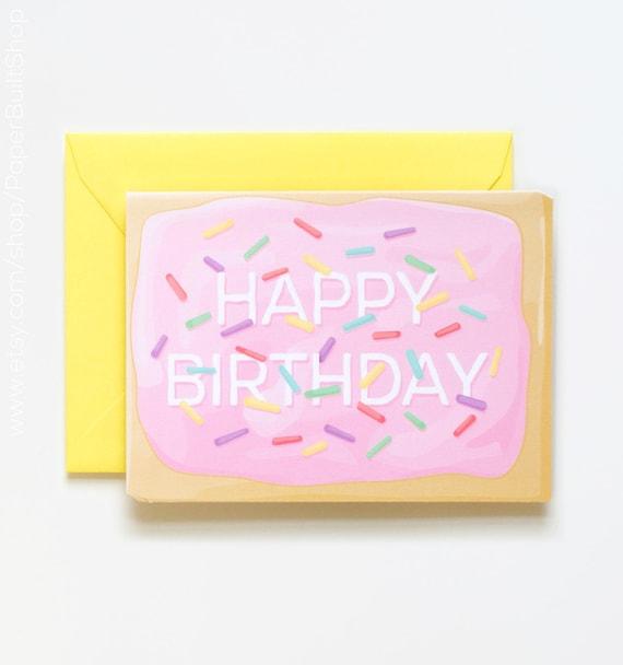 Pop Tart Birthday Card, Sprinkles Birthday, Die-cut