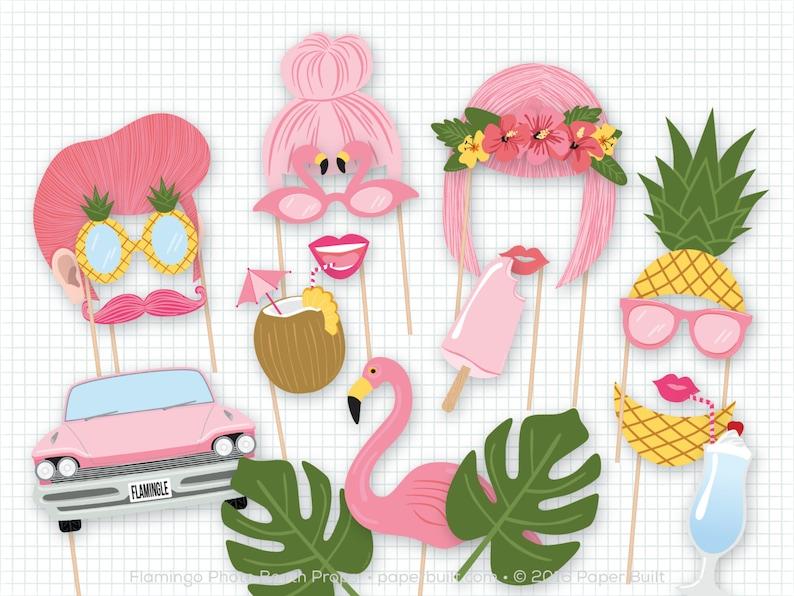 Flamingo Photo Booth Props Pink Photobooth Props Flamingo image 0