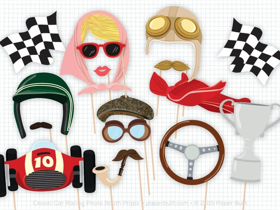 Race Car Photo Booth Props Photobooth Props Classic Car Party