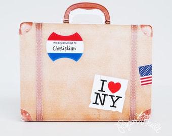 Vintage Suitcase Favor Bag