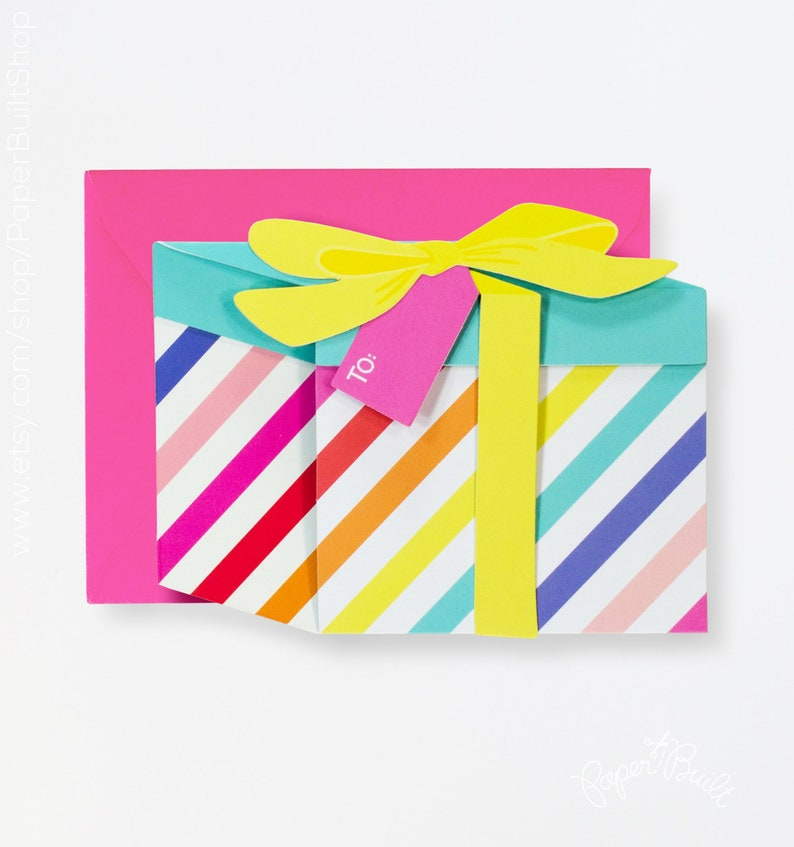 Happy Birthday Present Card Unique