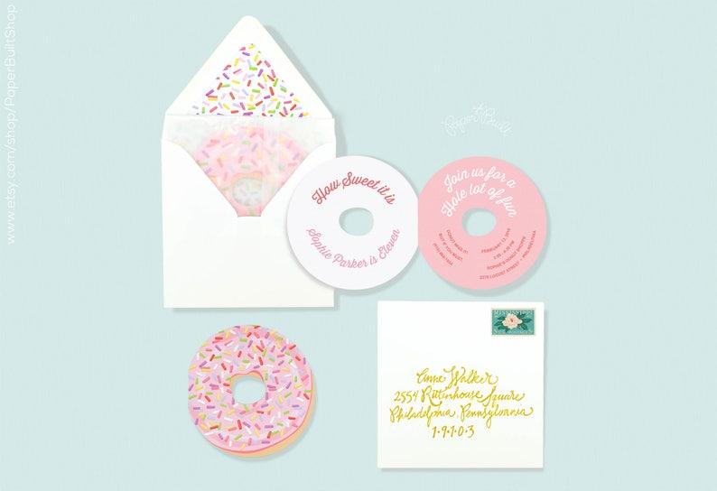 Donut Party Invitation Birthday Invite