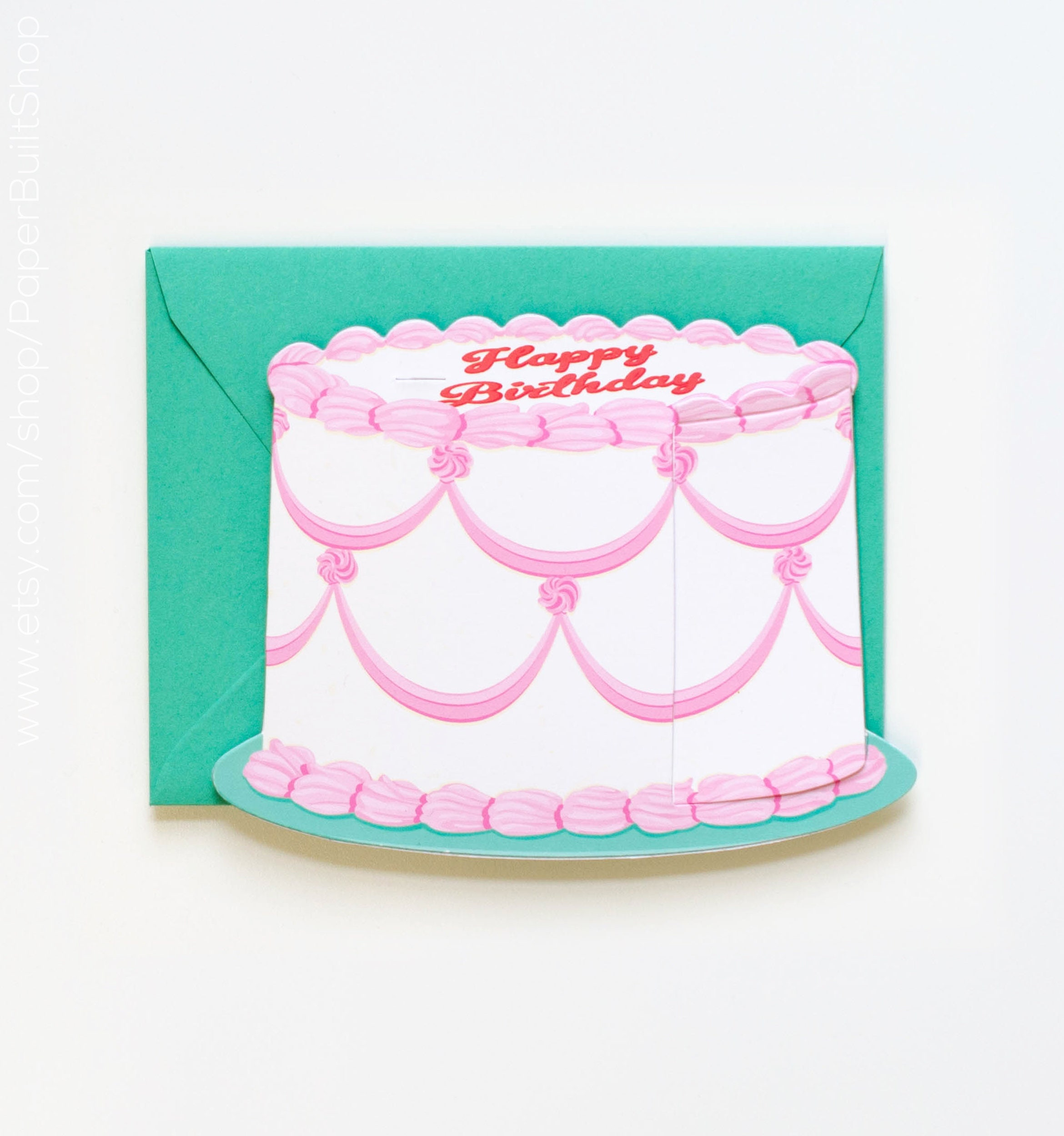 Special Birthday Cake Card Die Cut Greeting
