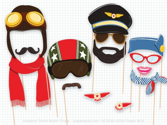 Pilot Photo Booth Props Etsy