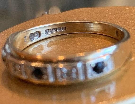 Vintage Sapphire and Diamond Ring - image 3