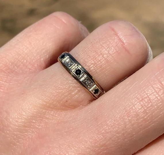 Vintage Sapphire and Diamond Ring - image 2