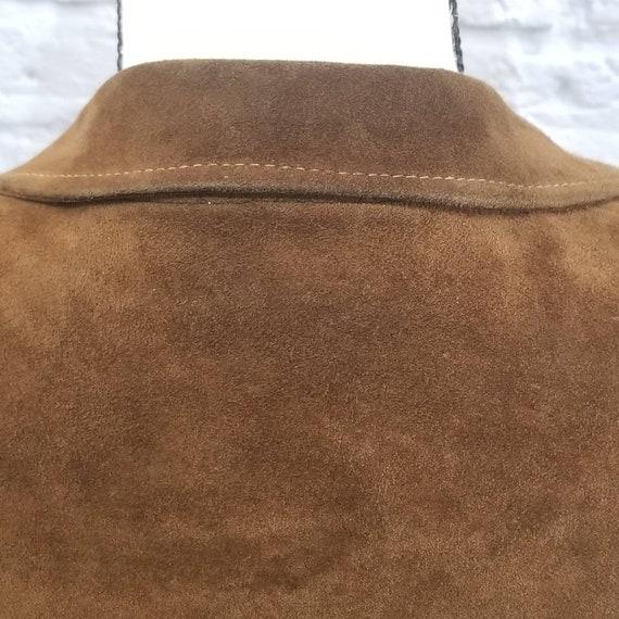 Vintage Suede Leather Fringed Leather Jacket Zip … - image 5
