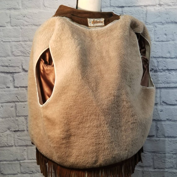 Vintage Suede Leather Fringed Leather Jacket Zip … - image 7