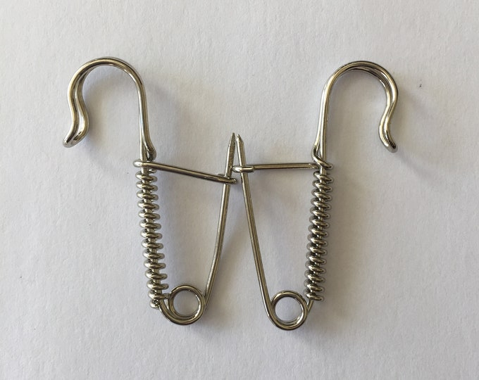 One Pair of Knitting Pins - Traditional Portuguese Knitting - Nickel
