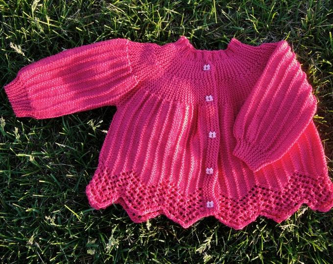 Pattern - Carolina Baby Sweater to Knit