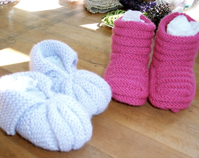 Pattern - Vintage Baby Booties to Knit