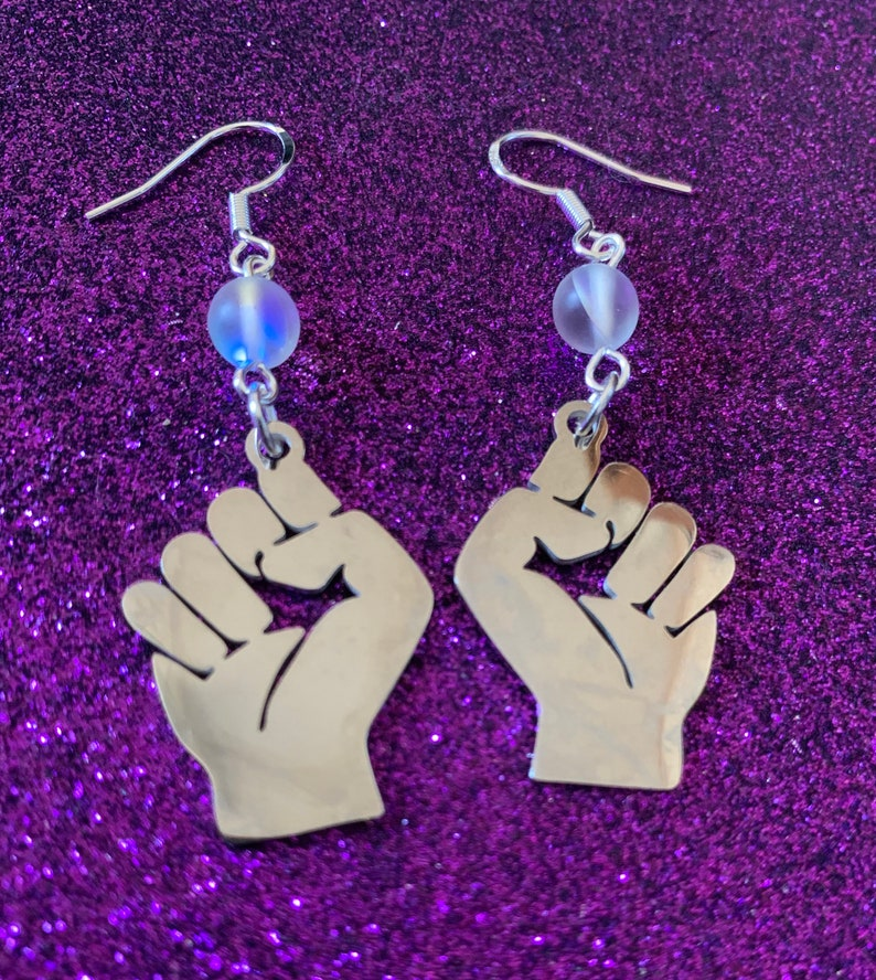 Empowerment Earrings Jewelry For Justice Message of Power image 0