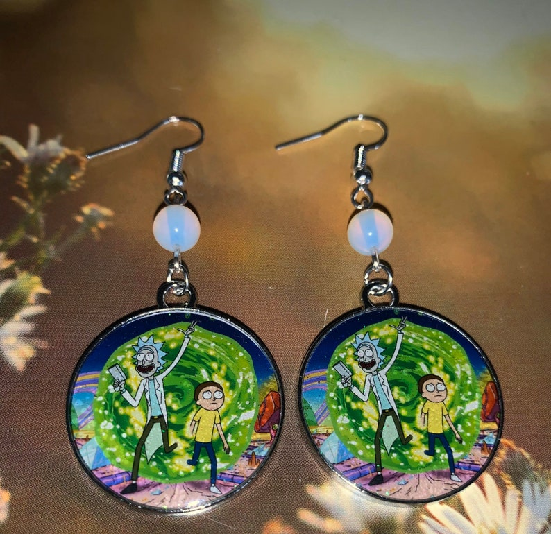 Ricky & Morty Three Piece Earring Lot image 0