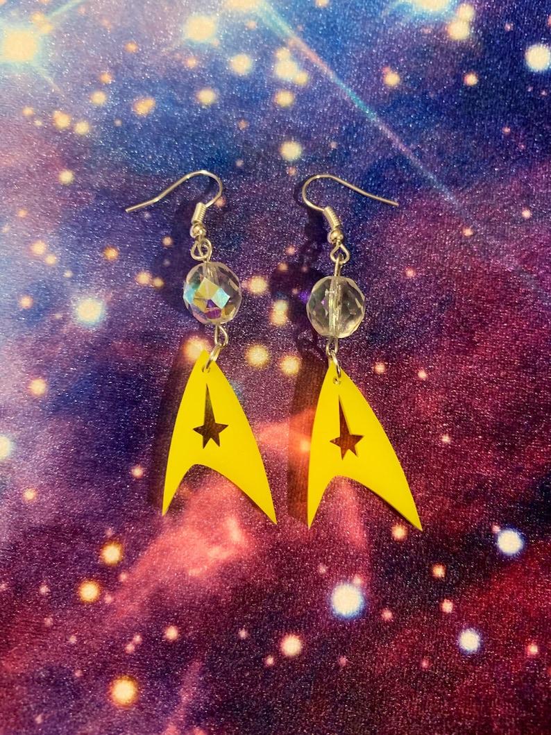 Boldly Go Star Trek Earrings image 0