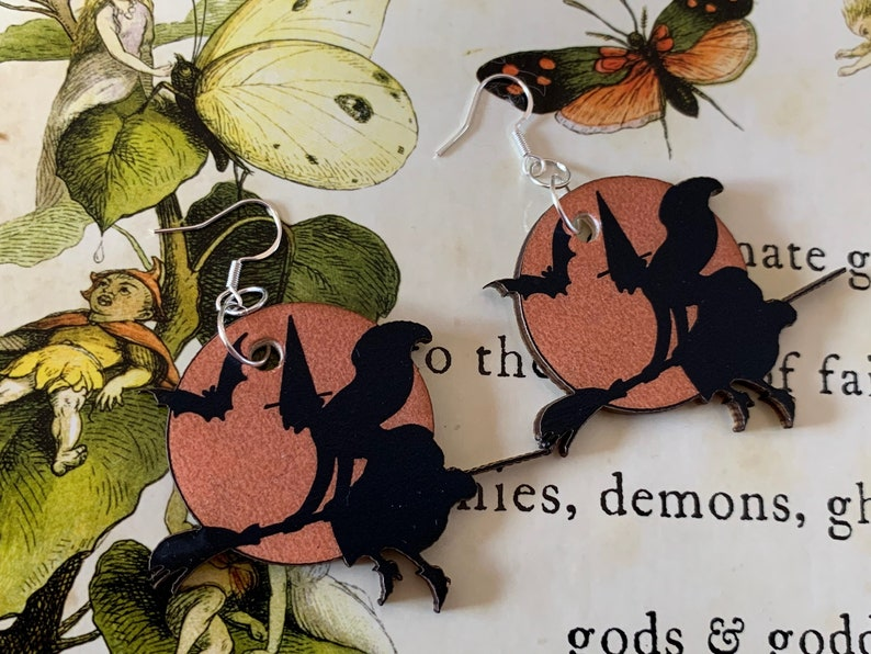 Beistle Inspired Halloween Witchy Earrings image 0