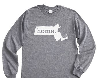 Homeland Tees Massachusetts Home Long Sleeve Shirt