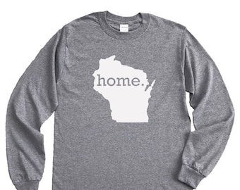 Homeland Tees Wisconsin Home Long Sleeve Shirt