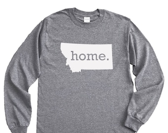 Homeland Tees Montana Home Long Sleeve Shirt