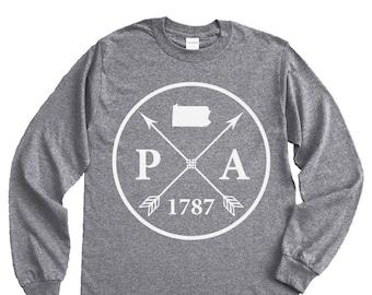 Homeland Tees Pennsylvania Arrow Long Sleeve Shirt