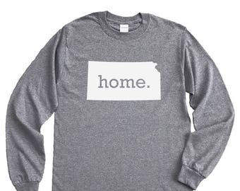 Homeland Tees Kansas Home Long Sleeve Shirt