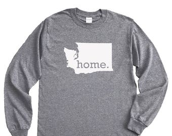 Homeland Tees Washington Home Long Sleeve Shirt