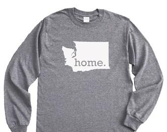 Homeland Tees Washington Home Long Sleeve Shirt