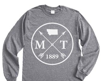 Homeland Tees Montana Arrow Long Sleeve Shirt