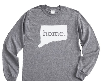 Homeland Tees Connecticut Home Long Sleeve Shirt