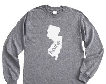 Homeland Tees New Jersey Home Long Sleeve Shirt