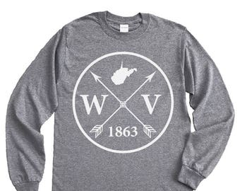 Homeland Tees West Virginia Arrow Long Sleeve Shirt